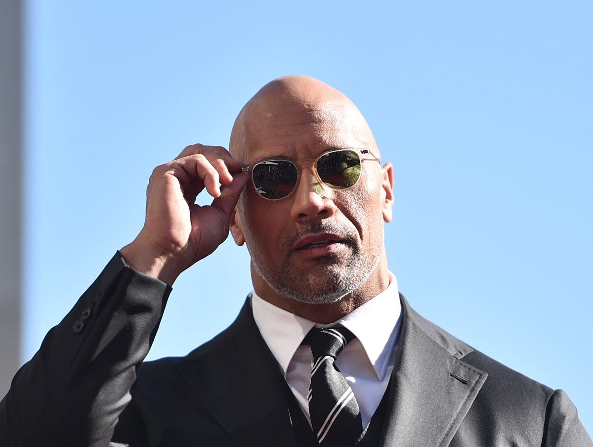 Actor Dwayne Johnson attends a ceremony honouring him with the 2,624th star on the Hollywood Walk of Fame on Dec. 13, 2017 in Hollywood, California.