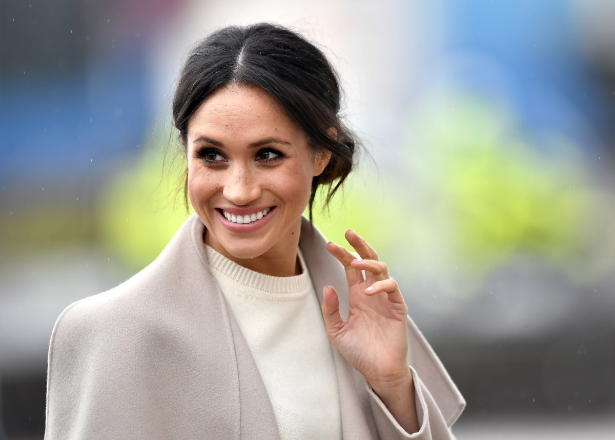 Meghan Markle is seen ahead of her visit with Prince Harry to the iconic Titanic Belfast during their trip to Northern Ireland on March 23, 2018 in Belfast, Northern Ireland, United Kingdom.