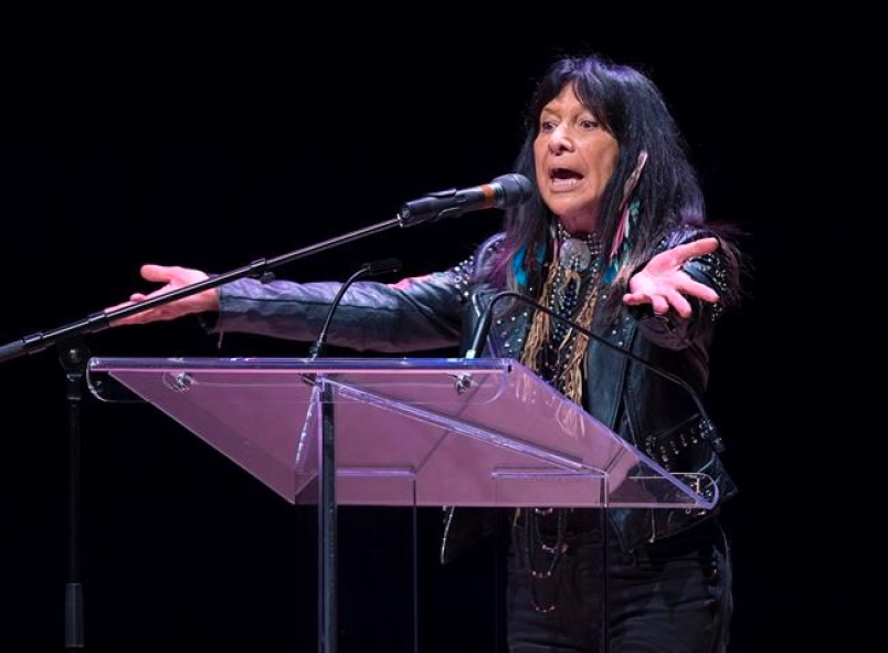 Buffy Saint-Marie was presented with an honorary doctorate degree from Dalhousie University on Tuesday, April 17.