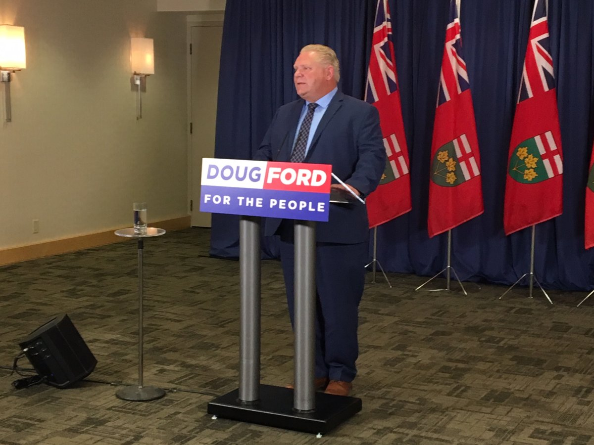 Tory leader Doug Ford says if the party is elected, northern Ontario communities, including Indigenous communities, would receive a portion of provincial revenues collected from resource projects.