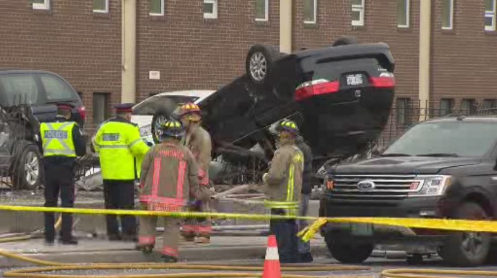 Toronto police say a person has died after a crash in the city's north end on Friday.