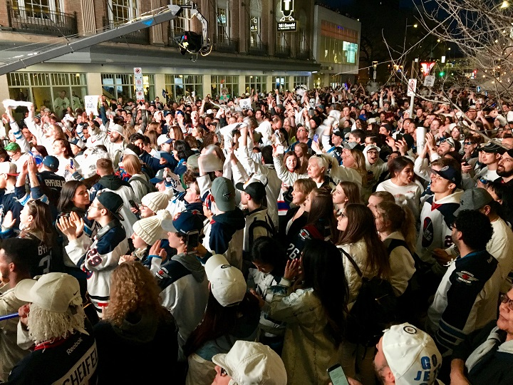 A record 18,000 fans attended Thursday night's Whiteout Street Party. That's more than triple the amount of fans from the first street party in round one.