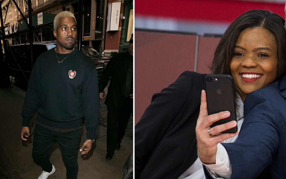 (L-R): Kanye West and Candace Owens.