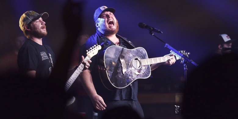 Photos of Luke Combs at The Ranch Roadhouse