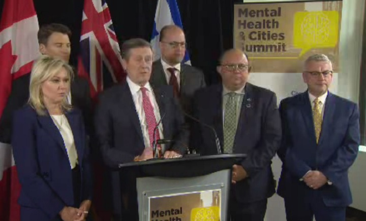 Big city mayors meet in Toronto for a summit on mental health on April 9, 2018.