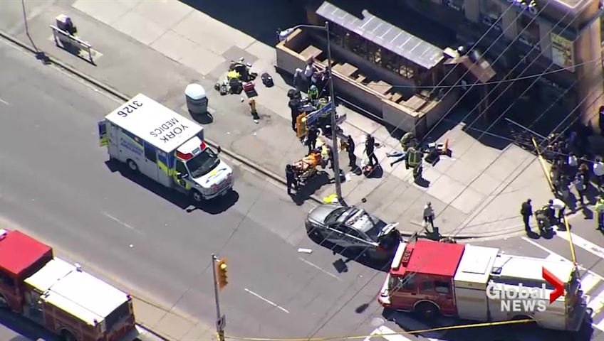 The scene of the 2018 Toronto van attack by an alleged incel.
