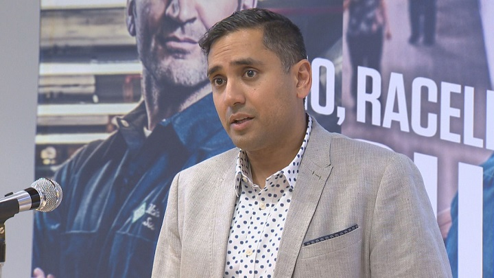 Dr. Faisal Siddiqui, a physician with Transplant Manitoba, speaking to the media April 13, 2018.