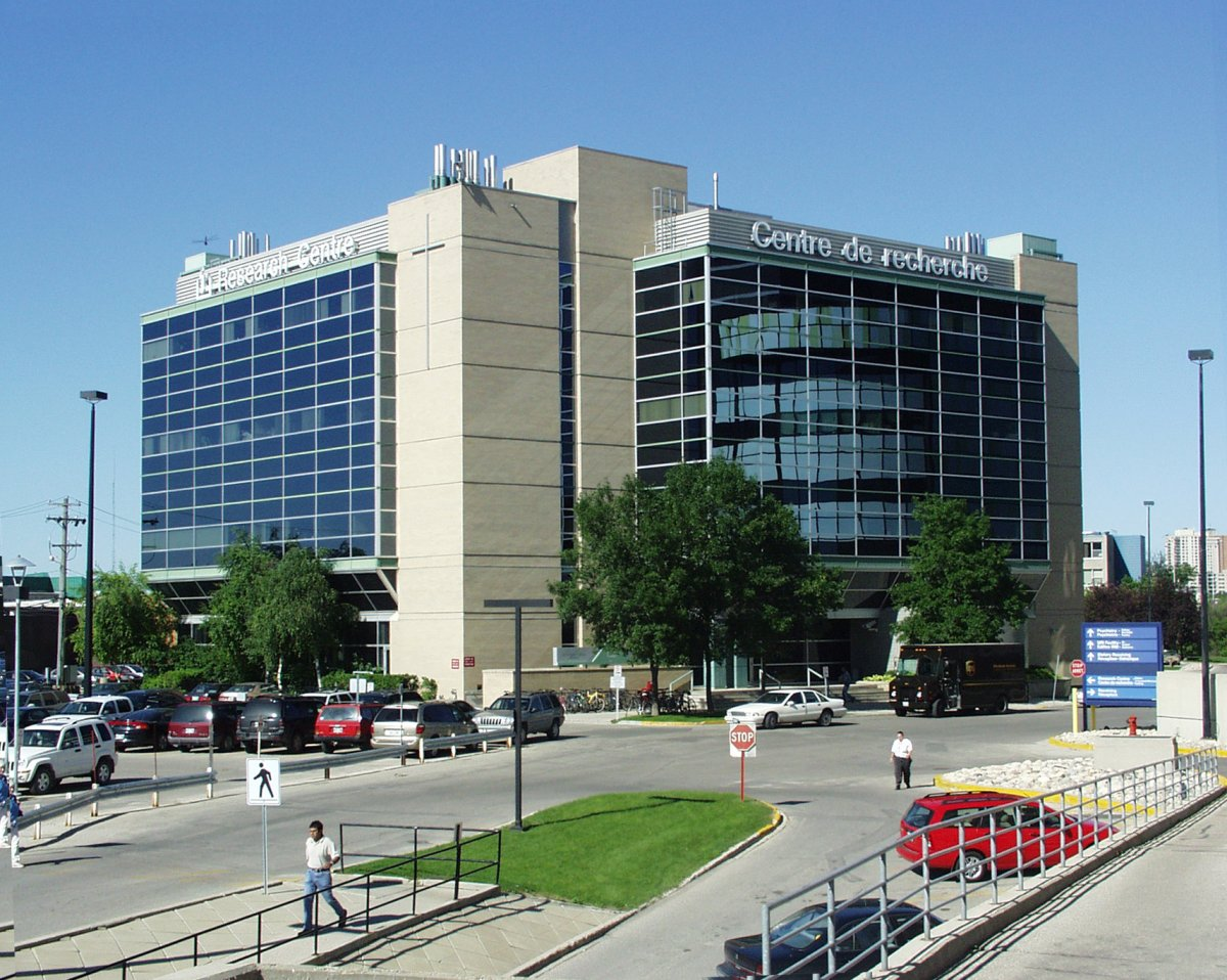 Albrechtsen Research Center, on the campus of St. Boniface Hospital, Winnipeg, Manitoba.