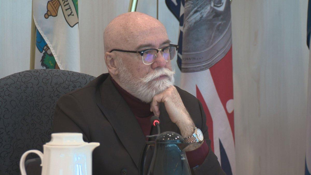 Edmonton city councillor Scott McKeen during a meeting at City Hall on April 4, 2018.