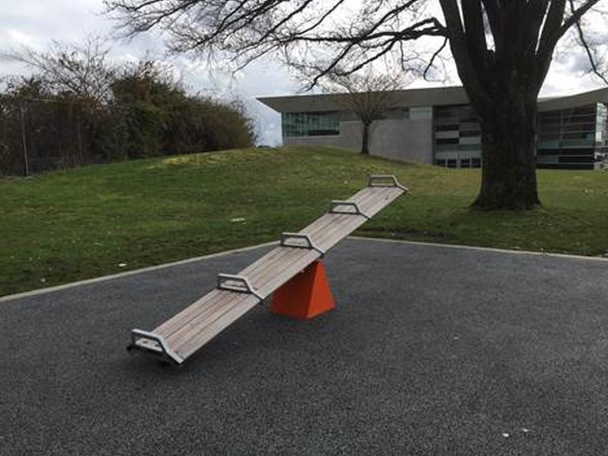 SeeSawSeat, a public art installation at Sunset Park.