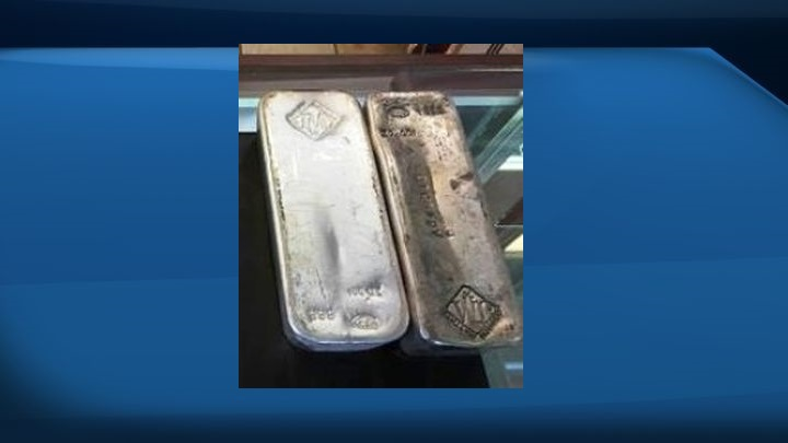 The Johnson Matthey silver bars involved in an April 11 break and enter in northeast Edmonton are similar to these, police said.