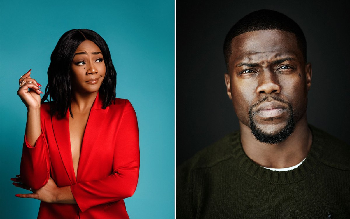 (L-R): Tiffany Haddish and Kevin Hart will perform at the world-famous comedy festival.