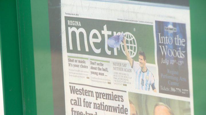 Saskatoon and Regina were former homes to the Metro, Torstar's free daily newspaper.