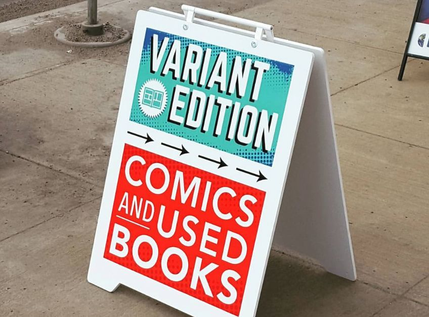 Variant Edition, an Edmonton comic book store, is being attacked online for not carrying a controversial author.