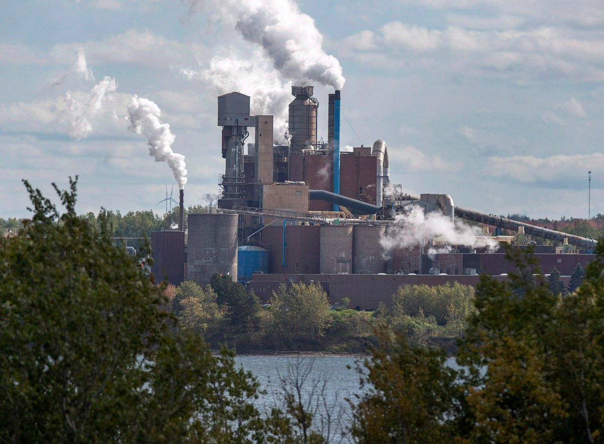 The Northern Pulp Nova Scotia Corporation mill is seen in Abercrombie, N.S. on October 11, 2017.