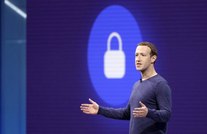 Facebook CEO Mark Zuckerberg makes the keynote speech at F8, Facebook's developer conference, on Tuesday, May 1, 2018, in San Jose, Calif.