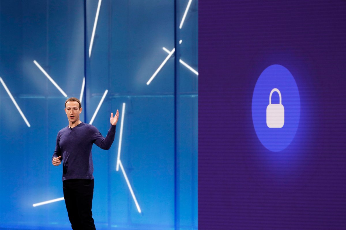 Facebook CEO Mark Zuckerberg makes the keynote speech at F8, the Facebook's developer conference, Tuesday, May 1, 2018, in San Jose, Calif.