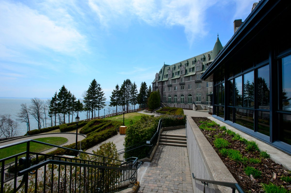Le Manoir Richelieu is shown in La Malbaie, Quebec on Wednesday, May 2, 2018.