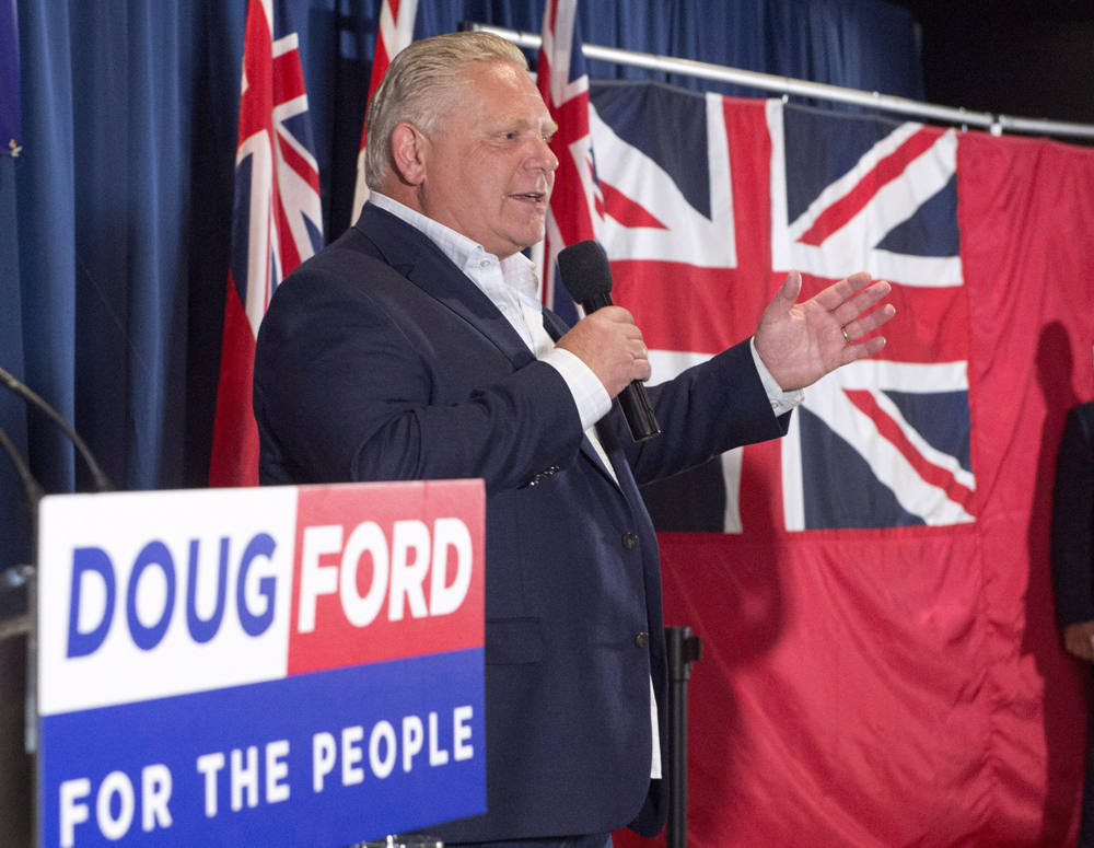 Doug Ford's Ontario PCs would win a one-seat majority is an election was held today, a simulation suggests.