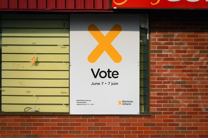 A poster by Elections Ontario encouraging residents to vote.