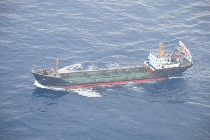 North Korean-flagged tanker JI SONG 6 is pictured in the East China Sea in this photo taken on May 19, 2018 and released on May 29, 2018 by Japan's Ministry of Defense.