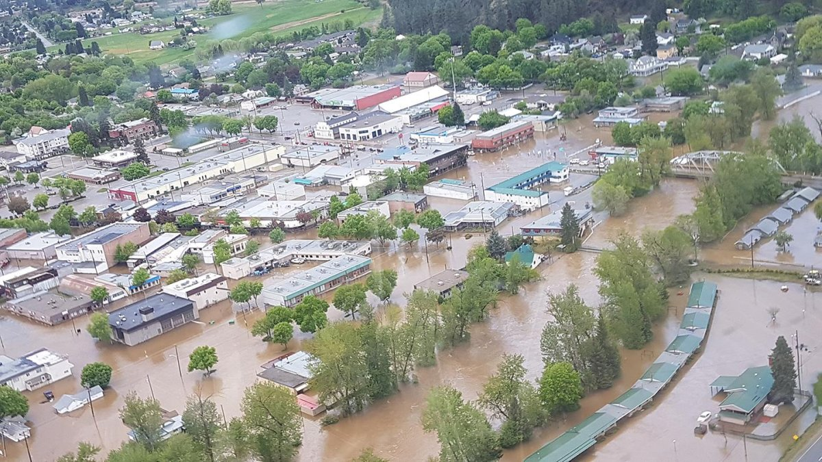 Grand Forks flooding on Thursday May 10, 2018 as seen from the sky.