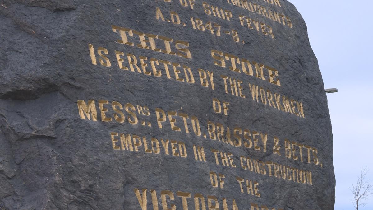 The Black Rock monument commemorates Irish history.