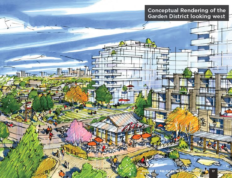 Conceptual rendering of the Bonnie Doon redevelopment plan.