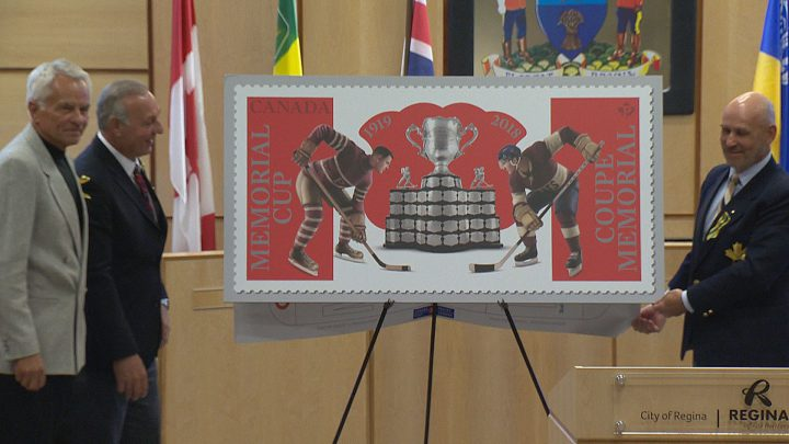 Celebrations are underway across the province to celebrate the Memorial Cup and Canada Post is celebrating the centennial event by unveiling a new stamp.