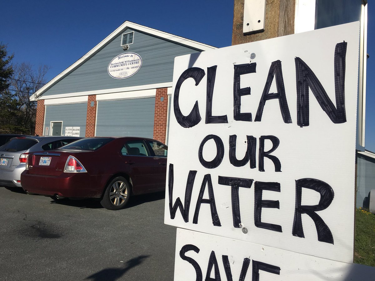 Nova Scotia's environment minister met with residents of Harrietsfield on Monday night to discuss longstanding concerns about their drinking water.