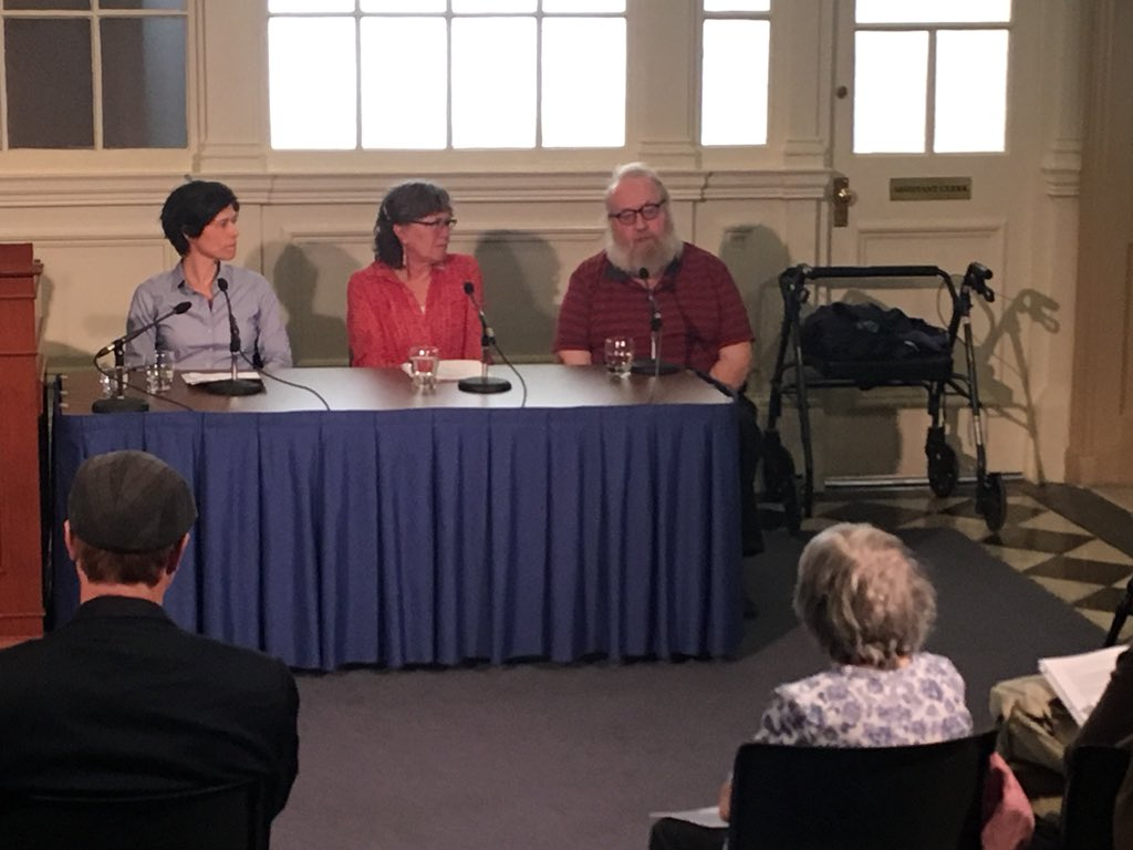 Basic Income Guarantee Nova Scotia speaks at the Nova Scotia legislature on May 16, 2018.