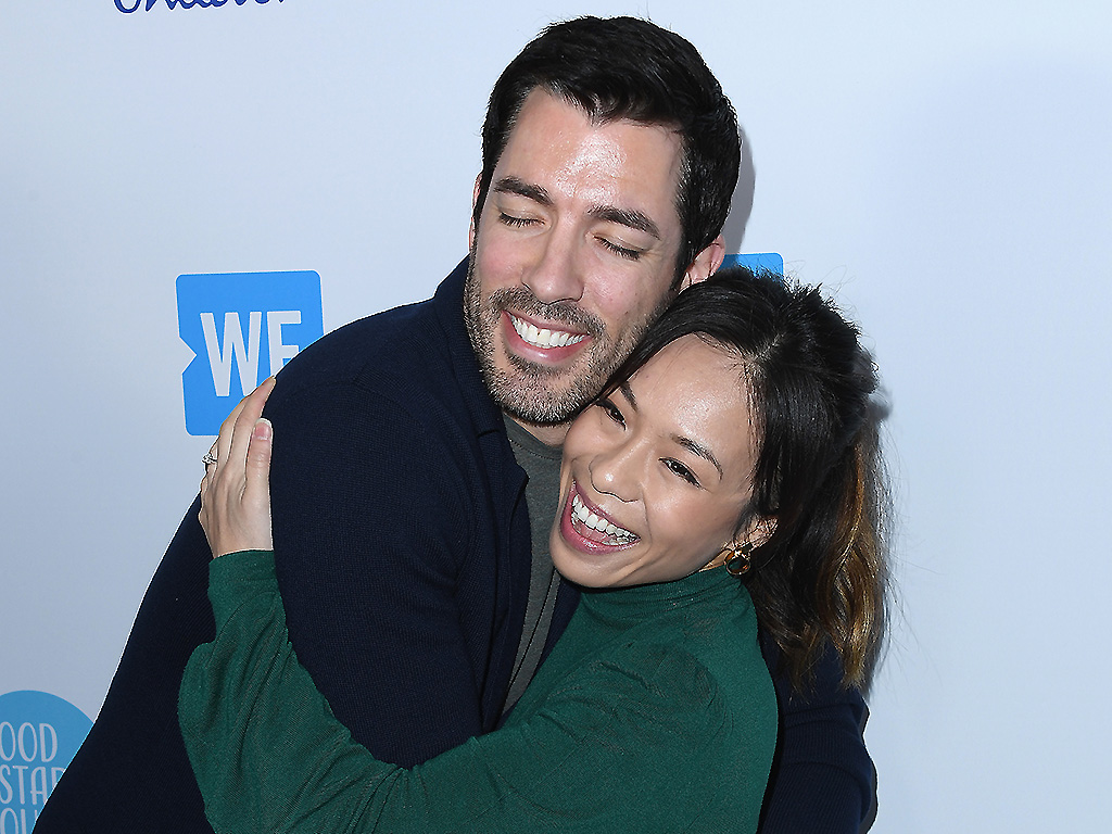 Drew Scott and Linda Phan attend WE Day California at The Forum on April 19, 2018 in Inglewood, Calif.