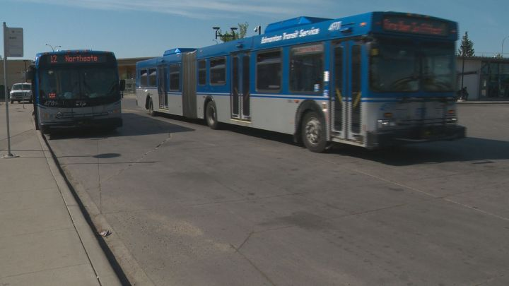 Edmonton Transit buses on Friday, May 18, 2018.