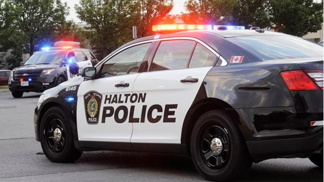 Halton police are investigating an armed robbery at a cell phone store in Milton.