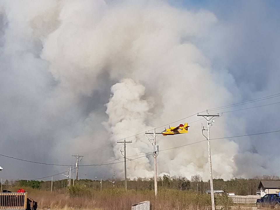 Close to 500 have been evacuated from Sapotaweyak Cree Nation as crews continue to battle a forest fire nearby.