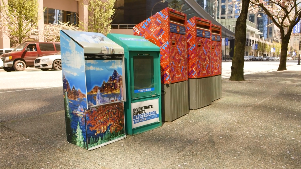 Eleven re-modeled news boxes have been placed around downtown Vancouver where you can pick up, exchange or donate free books.