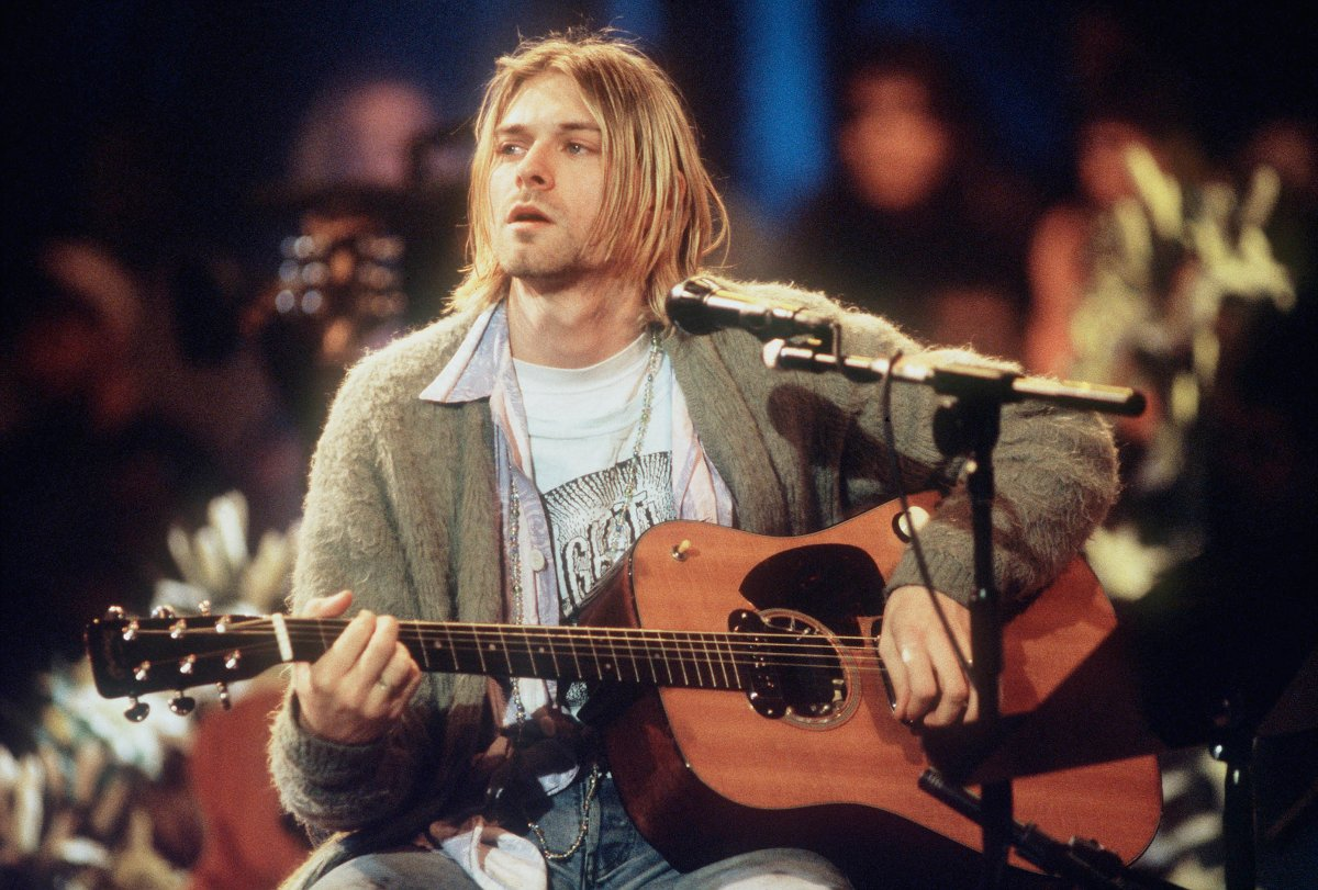 Kurt Cobain of Nirvana during the taping of MTV Unplugged at Sony Studios in New York City on Nov. 18, 1993.