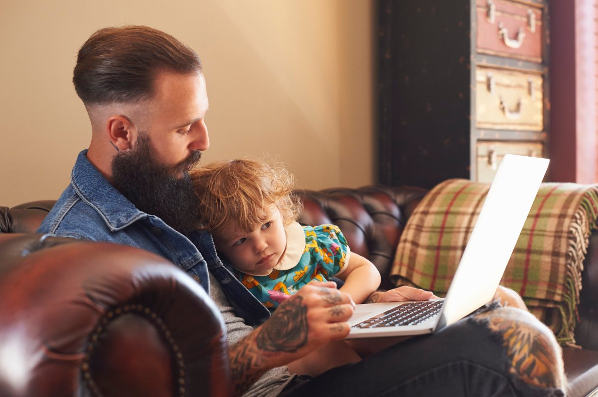 Dads are stepping up to help out more at home during the pandemic - image