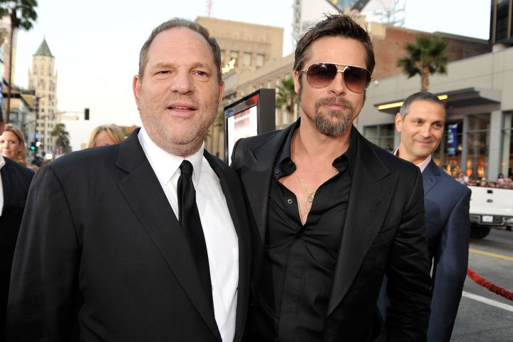 Harvey Weinstein and Brad Pitt.
