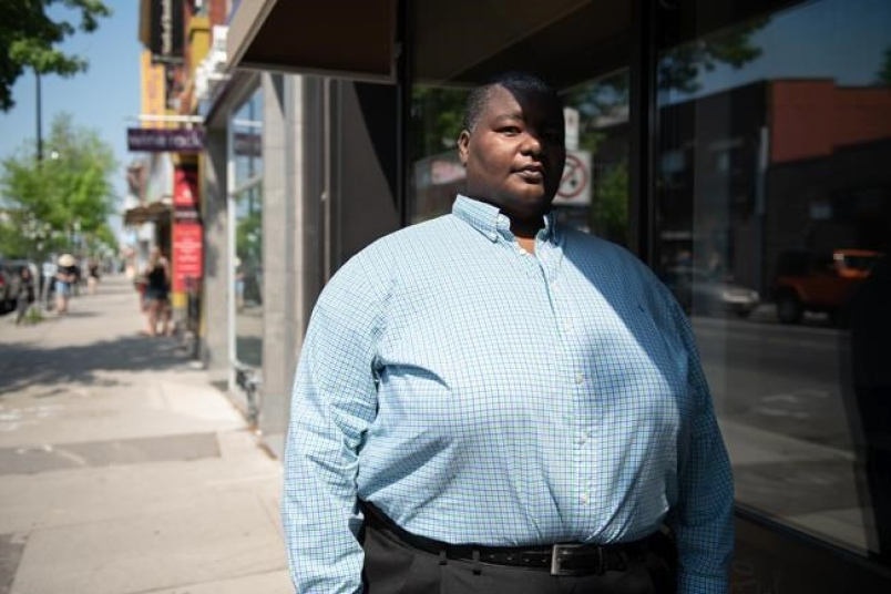 Consultant Tomee Sojourner-Campbell, who specializes in the area of consumer racial profiling, poses for a portrait in Toronto, Sunday, May 27, 2018.
