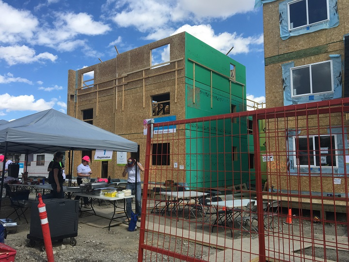 New Calgary Habitat for Humanity project under construction in Bowness.