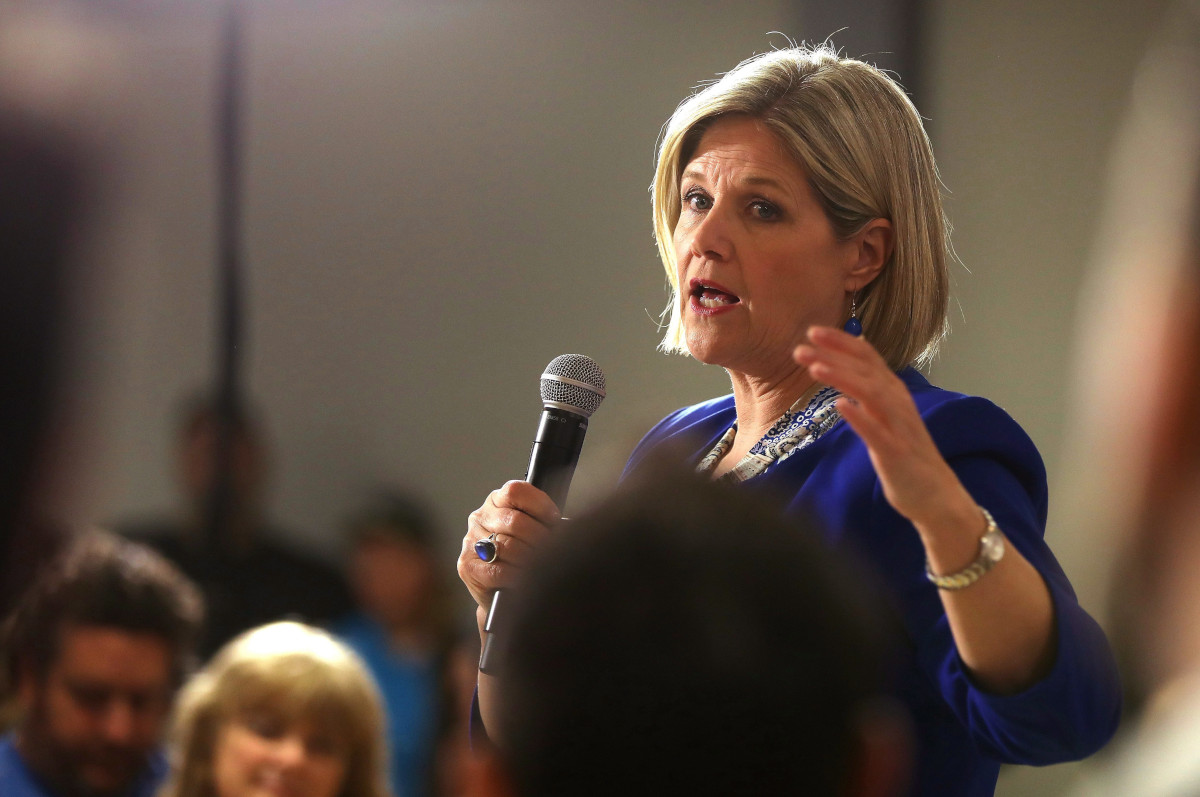 Ontario NDP Leader Andrea Horwath, seen here in this May 14, 2018., file photo, will be visiting Peterborough on Friday to discuss long-term care beds.