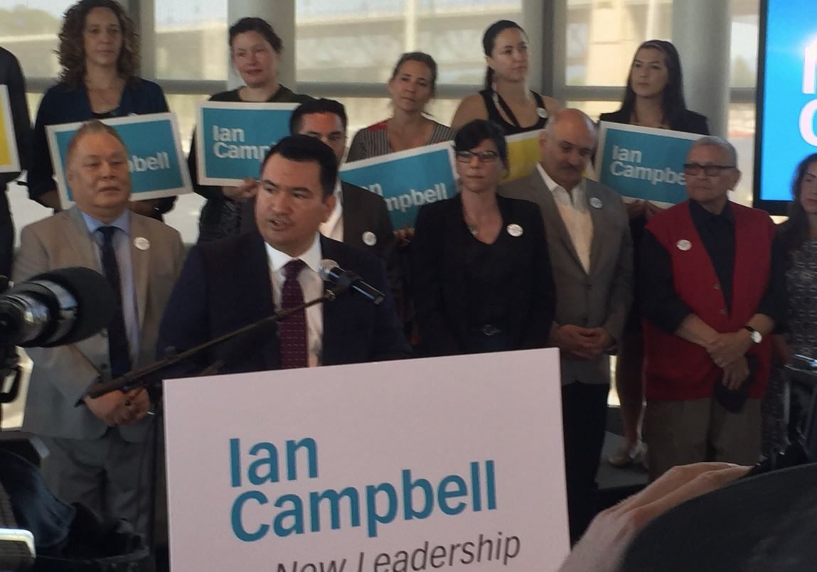 Ian Campbell kicked off his campaign for mayor of Vancouver on Monday, May 14, 2018.