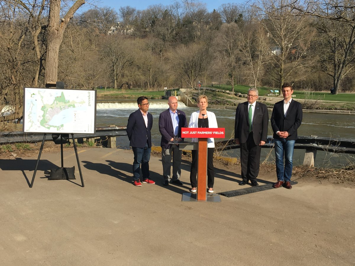 Ontario Premier Wynne says her government would extend the Greenbelt if re-elected in June.