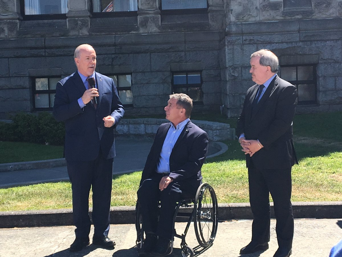B.C. Premier John Horgan announces $10 million in funding as part of Rick Hansen Day.