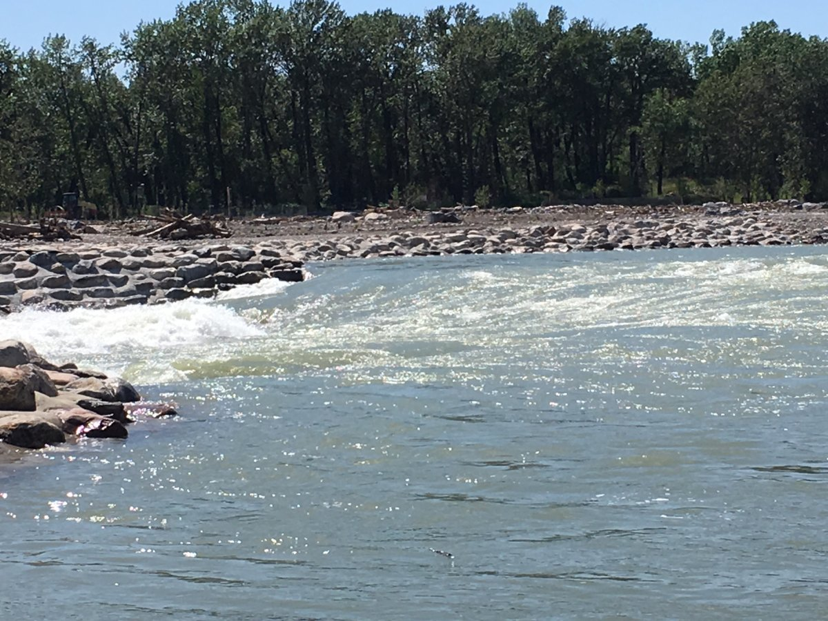 High flow rates have prompted a boating advisory for the Bow River on June 23, 2018.