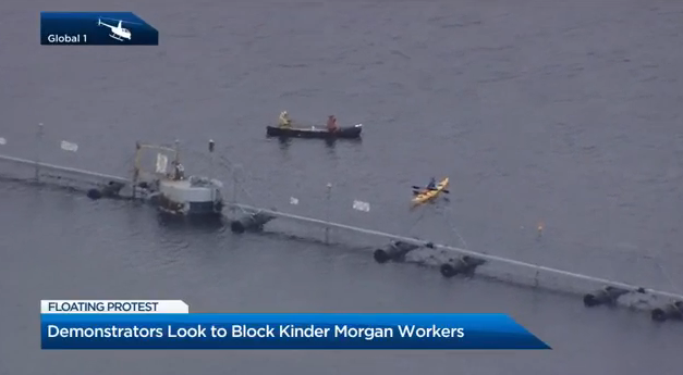 You can see two of the vessels on the water in the view from the Global 1 helicopter.