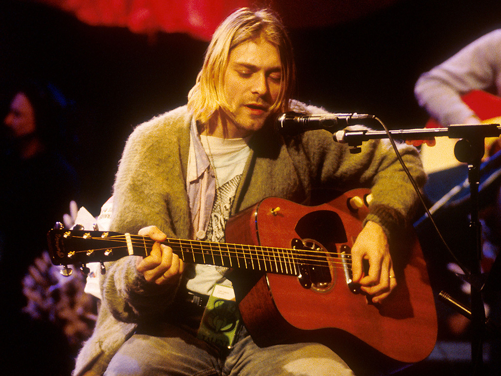 Kurt Cobain of Nirvana during the taping of 'MTV Unplugged' at Sony Studios in New York City, on Nov. 18, 1993.