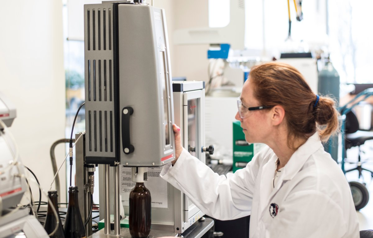 Kari Kramp works in the Loyalist College Applied Research Centre for Natural Products and Medical Cannabis lab, where students partner with a Toronto brewer looking to sell cannabis-based beer.