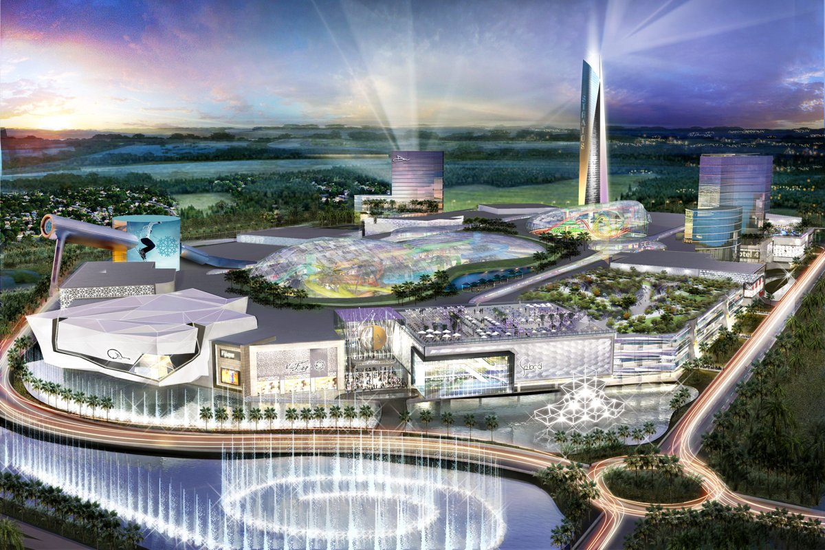 Artistic rendering of the American Dream Miami mall complex in Florida, which will be built by Edmonton-based Triple Five Group - which also owns West Edmonton Mall.
